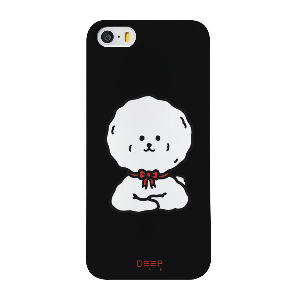 BICHON FACE - RED(BLACK)